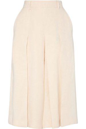 Max Mara High Waist Linen Canvas Skirt Pants