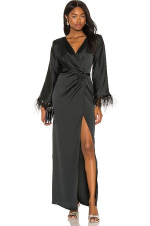 Michael Costello Women Bathrobes - X REVOLVE Feather Trim Robe in .
