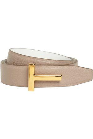 Tom Ford 3cm Tf Reversible Leather Belt