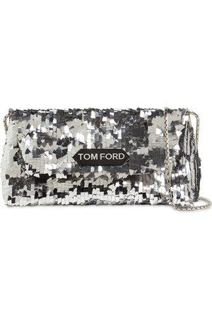 Tom Ford Women Shoulder Bags - Label Small Sequined Shoulder Bag