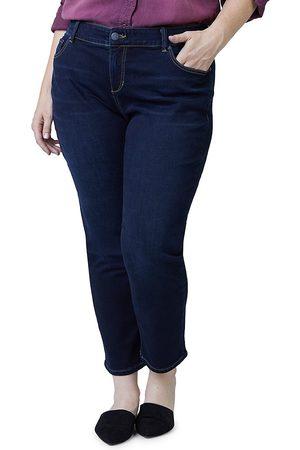 Slink Jeans Plus Women's Mid-Rise Boyfriend Ankle Jeans - - Size 18W