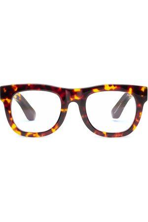 Caddis Women's D28 50MM Tortoise Shell Square Light Reading Glasses - Turtle