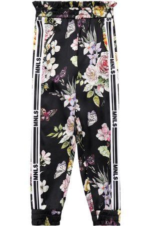 MONNALISA Flowers Print Viscose Pants
