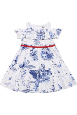 MONNALISA Disney Print Cotton Poplin Dress