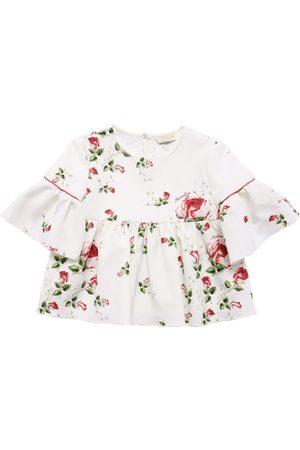 MONNALISA Girls Tops - Floral Print Cady Top
