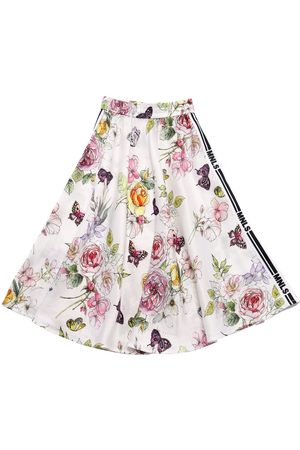 MONNALISA Flowers Print Viscose Skirt