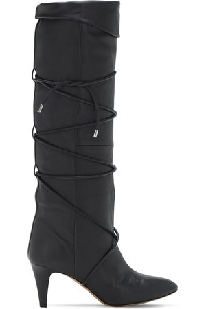 Isabel Marant 75mm Lades Leather Tall Boots
