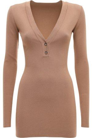 Zeynep Arcay V Neck Knit Mini Dress