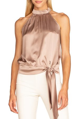 Trina Turk Women's Satin Cocktail Top - - Size Small