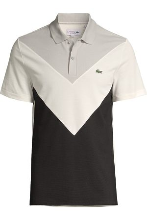 Lacoste Men's Regular-Fit V-Shaped Colorblocking Performance Piqué Polo Shirt - - Size 7 (2XL)