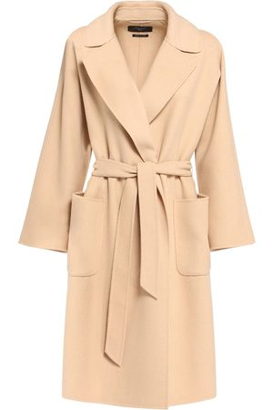 Max Mara Double Wool Belted Knee Length Coat