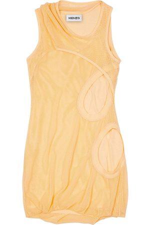 Kenzo Asymmetrical Cotton Jersey Dress
