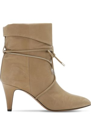 Isabel Marant Women Ankle Boots - 75mm Lilda Leather Ankle Boots