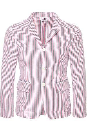 Thom Browne Unconstructed Seersucker Stripe Blazer