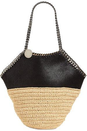 Stella McCartney Large Viscose & Faux Leather Tote Bag