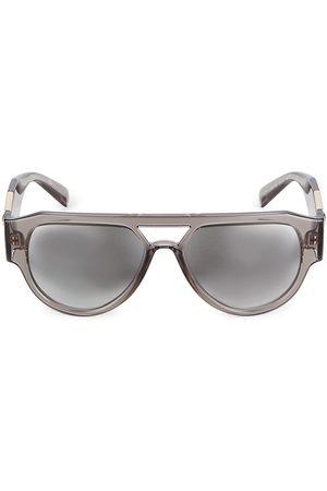 VERSACE Men's 57MM Mirrored Pilot Sunglasses - Grey