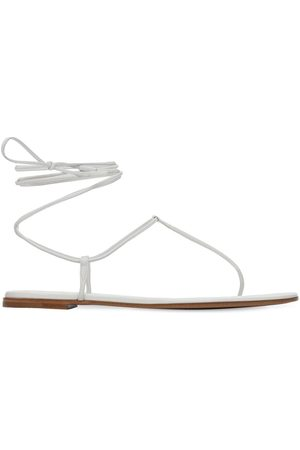 Gianvito Rossi 10mm Gwyneth Leather Thong Sandals