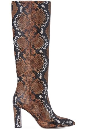 Paige Women's Carmen Snakeskin-Embossed Leather Knee-High Boots - - Size 10.5