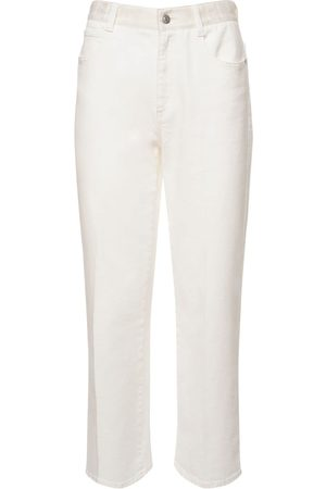 Stella McCartney Women Straight - Organic Cotton Denim Straight Leg Jeans