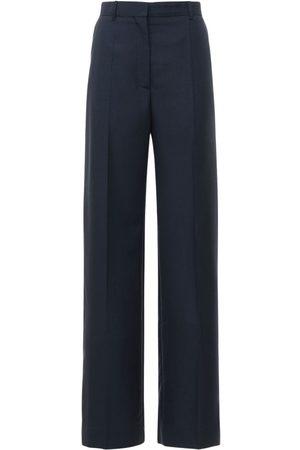 Lanvin High Waist Woven Wool & Mohair Pants