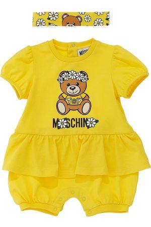 Moschino Cotton Jersey Romper & Headband