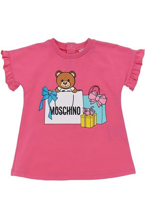 Moschino Toy Print Cotton Jersey Dress