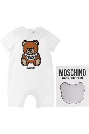 Moschino Embroidered Patch Cotton Jersey Romper