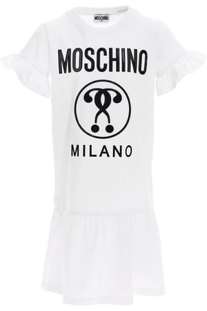 Moschino Logo Print Cotton Jersey Dress