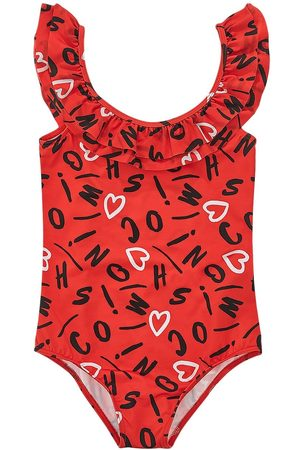 Moschino All Over Logo Print One Piece Swimsuit
