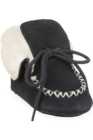 Ralph Lauren Baby Boy's Pocono Leather Shearling Booties - - Size 4 (9-12 Months)