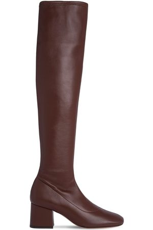 By Far 60mm Carlos Stretch Leather Tall Boots