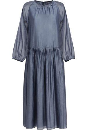 Max Mara Adatti Voile Cotton & Silk Midi Dress