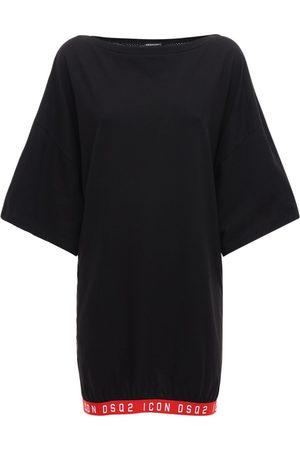 Dsquared2 Oversized Printed Logo T-shirt Dress