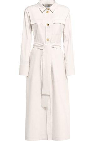 Max Mara Zinco Buttoned Cotton Gabardine Dress