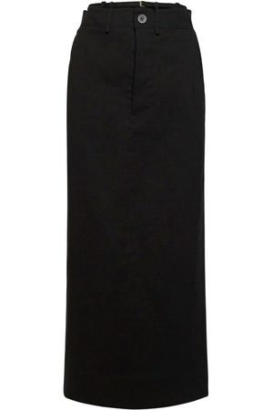 Jacquemus La Jupe Terrario Gabardine Midi Skirt
