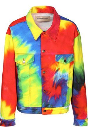 ALEXANDRE VAUTHIER Women Denim Jackets - Tie Dye Cotton Denim Jacket
