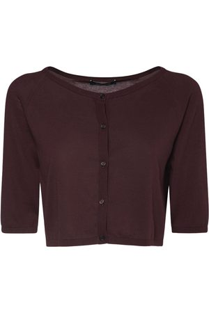 Max Mara Cropped Cotton Knit Cardigan