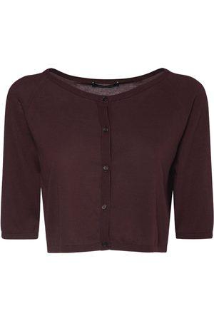 Max Mara Cropped Cotton Knit Cardigan