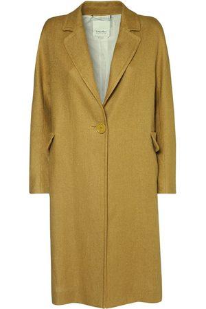 Max Mara Linen & Cotton Stretch Canvas Coat