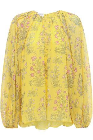 Giambattista Valli Women Shirts - Floral Printed Silk Georgette Shirt