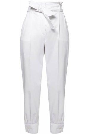 Max Mara High Waist Cotton Twill Pants