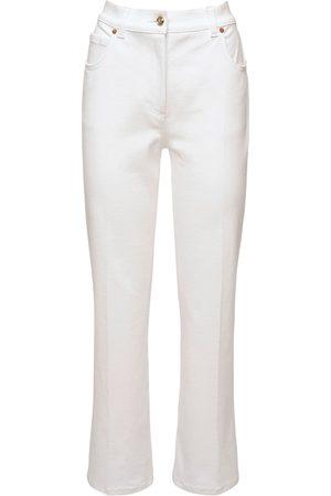 VALENTINO Cotton Denim Straight Jeans