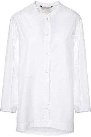Max Mara Cotton Poplin Shirt W/ Side Slits