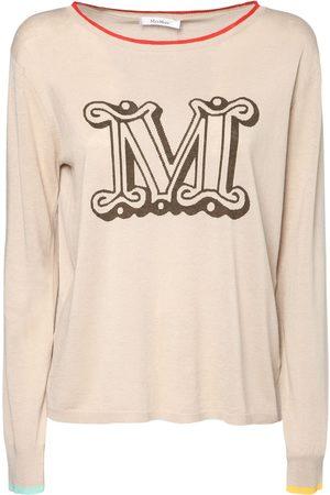 Max Mara Women Sweaters - Logo Silk & Linen Sweater