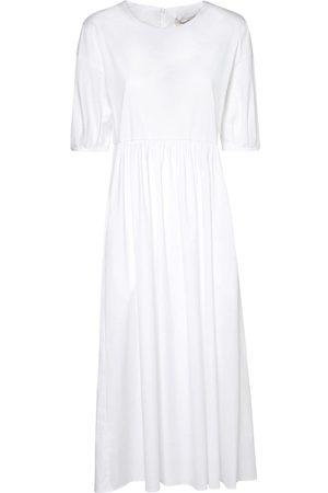 Max Mara Stretch Cotton Poplin Midi Dress