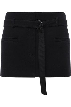 Serafini Women Mini Skirts - Belted Double Cotton Mini Skirt