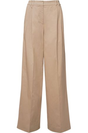 Agnona Women Stretch Pants - High Waist Stretch Cotton Pants