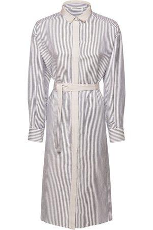Agnona Cotton Blend Shirt Dress W/ Belt