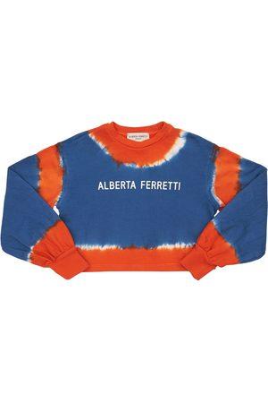 Alberta Ferretti Tie & Dye Cotton Sweatshirt