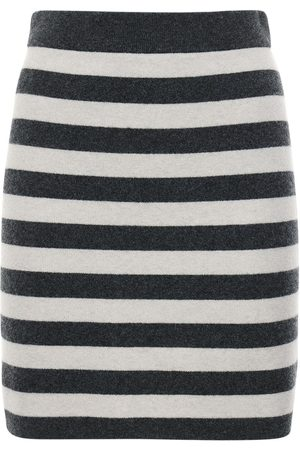 Kenzo Striped Wool Blend Knit Mini Skirt
